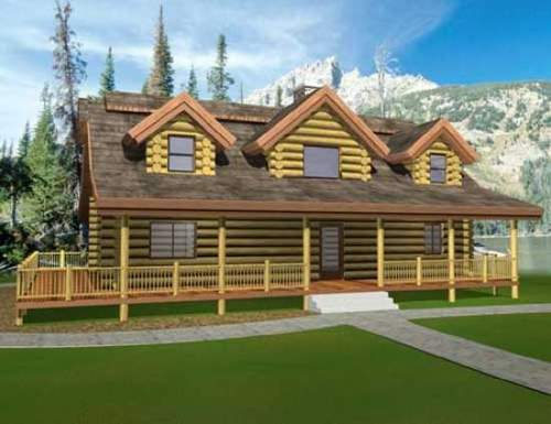 Floor plan avalon log homes for Pippin home designs
