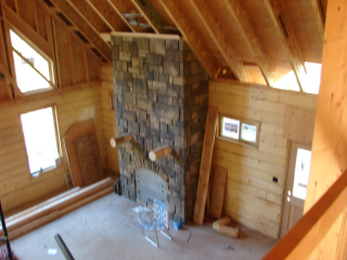 Log home interior photos avalon log homes for Homeinteriors