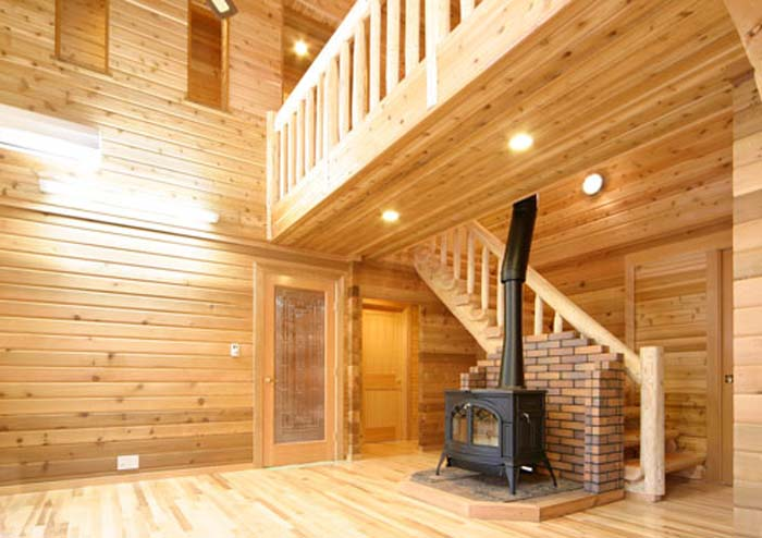 Interior tongue and groove paneling joy studio design gallery best design - Log homes interior designs ...